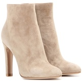 Gianvito Rossi Dana High Bootie Suede Ankle Boots