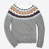 J.Crew Factory Metallic Fair Isle sweater
