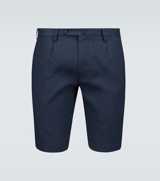 Incotex Classic linen shorts