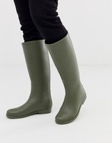 Asos Design DESIGN Gracious gumboots in green
