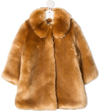 Hucklebones London Faux-Fur Single-Breasted Coat