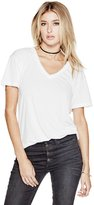 GUESS Women's Deep V-Neck Tee