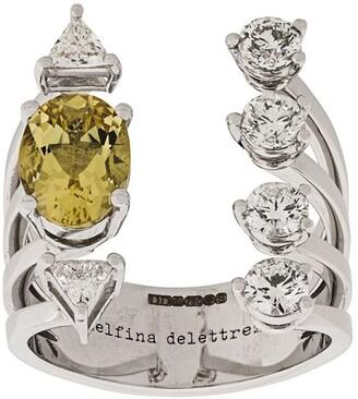 Delfina Delettrez 18kt white gold Today Tomorrow DOTS Diamond ring