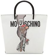 Moschino Graphic Faux-Leather Shopping Bag