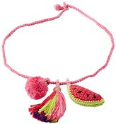 Girls Handcrafted Crochet Charm Necklace