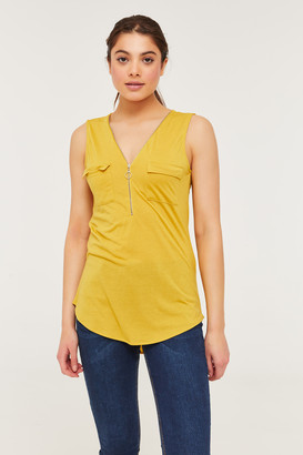 Ardene Zip Collar Tank Top