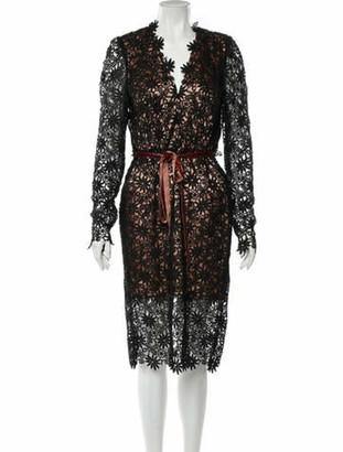 Roksanda Lace Pattern Midi Length Dress Black