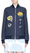 Stella McCartney 'Lorinda' embroidered patch bomber jacket