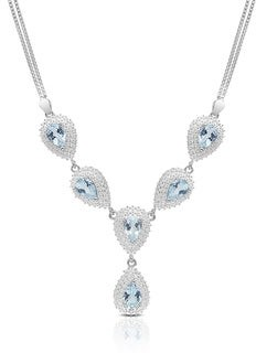 Dolce Giavonna Gold Over Sterling Silver Gemstone 'Y' Necklace