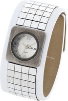 JCPenney Decree Womens Wide-Strap Tile Watch