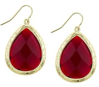 Wild Lilies Jewelry Burgundy Teardrop Earrings