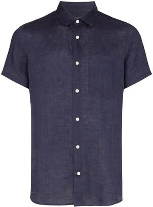 Frescobol Carioca Button-Down Short-Sleeve Shirt