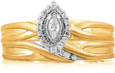 JCPenney MODERN BRIDE 1/4 CT. T.W. Diamond 14K Yellow Gold Marquise Bridal Ring Set