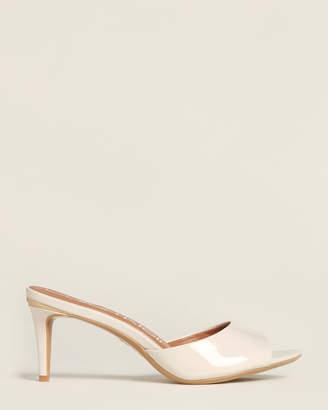 Calvin Klein Soft White Luc Patent Sandals