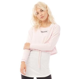 Bench Womens Romy Layered Sweatshirt Mauve Chalk