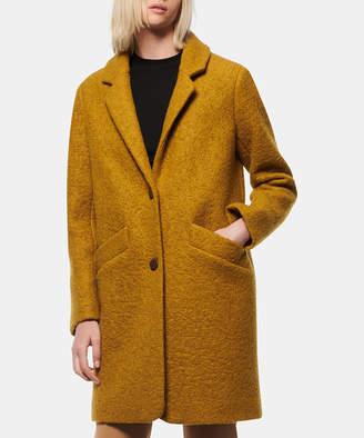 Andrew Marc Women's Car Coats [MUS]MUSTARD - Mustard Notch-Lapel Paige Boucle Wool-Blend Coat - Women