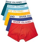River Island MensRed block color hipster multipack