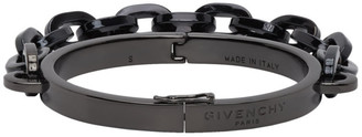 Givenchy Black Chain Cuff Bracelet