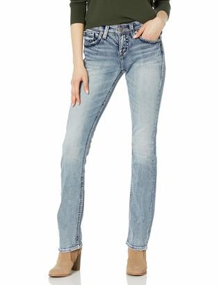 Silver Jeans Juniors Suki High-Rise Baby Bootcut Jean