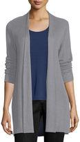 Eileen Fisher Sleek Ribbed Long Cardigan, Plus Size