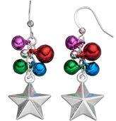 Christmas Star Beaded Cluster Drop Earrings