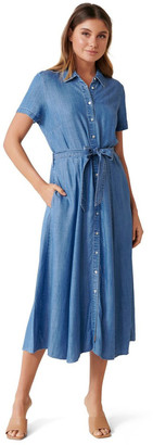 Forever New Joni Denim Midi Dress