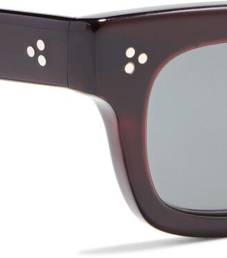 Oliver Peoples Jaye Rectangle-frame Acetate Sunglasses