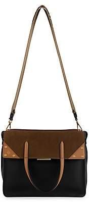 Fendi Women's Flip Leather & Suede Crossbody Bag