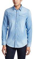 G Star Men's Arc 3D Long Sleeve Shirt Blue