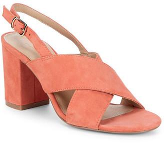 Pure Navy Suede Block-Heel Sandal