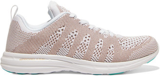 APL Athletic Propulsion Labs Metallic Paneled Stretch-knit Sneakers