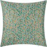 Clarissa Hulse Garland Cushion - 45x45cm - Pebble/Kingfisher/Dark Aqua