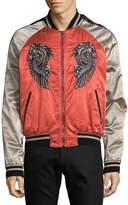 Roberto Cavalli Men's Embroidered Graphic Bomber Jacket