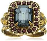Sorrelli Mahogany Opulent Octagon Adjustable Ring, Size 7-9