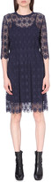 Mo&Co. A-line geometric-lace dress