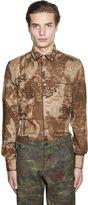 Floral Printed Jacquard Pajama Shirt