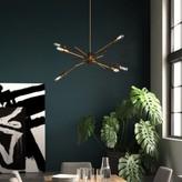 "3.1 Phillip Lim Byler 6 - Light Sputnik Modern Linear Chandelier Mercury Row Size: 16"" H x W x 18"" D"