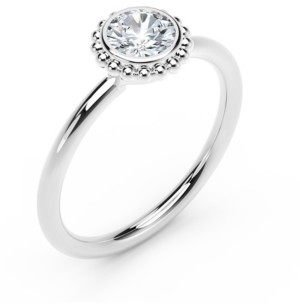Forevermark Tribute Collection Diamond (1/3 ct. t.w.) Ring with Beaded Detail in 18k Yellow, White and Rose Gold