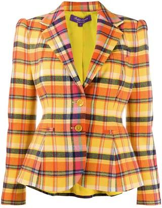 Ralph Lauren Collection Tailored Check Print Blazer