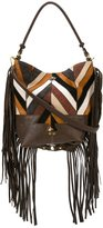 Jerome Dreyfuss fringed chevron shoulder bag