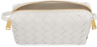 Bottega Veneta White Mini Zipped Bag