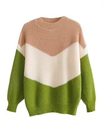 Goodnight Macaroon 'Haye' Tri-Colored Sweater (3 Colors)