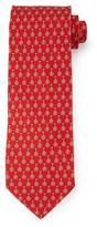 Salvatore Ferragamo Unicycle-Print Silk Tie, Red