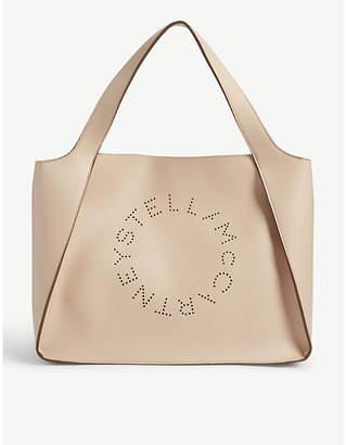 Stella McCartney Stella Logo small vegan-leather tote bag