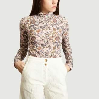 See by Chloe Rose Micro Floral Printed T shirt - s | rose | Viscose, Wool, Elastane - Rose