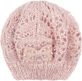 Monsoon Crochet Knit Bow Beret