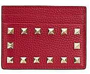 Valentino Women's Garavani Rockstud Leather Card Holder