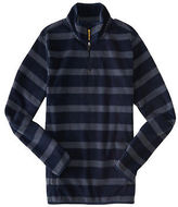 Aeropostale Mens Prince & Fox Striped Mock Neck Pullover Sweatshirt Blue