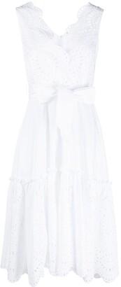 P.A.R.O.S.H. Scalloped Sleeveless Cotton Dress