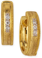 Jude Frances Lisse Small 18K Gold Hoop Earrings w/ Diamonds